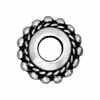 Spacer Beaded Twist Euro Bead 11mm Antique Silver
